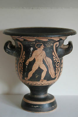 QUALITY ANCIENT GREEK POTTERY RED FIGURE CRATER 4th CENT BC MAGNA GRAECIA WINE