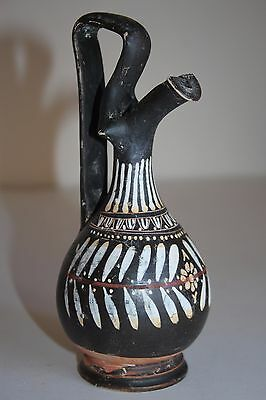 QUALITY ANCIENT GREEK GNATHIAN POTTERY PROCHOUS 4th Century BC WINE JUG