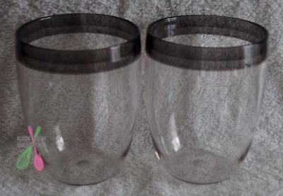 Tupperware Table Collecting Black 350ml High Ball Glasses - Set of 2 New