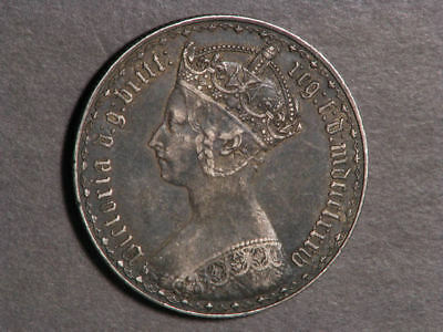 GREAT BRITAIN 1884 1 Florin Victoria Silver VF-XF