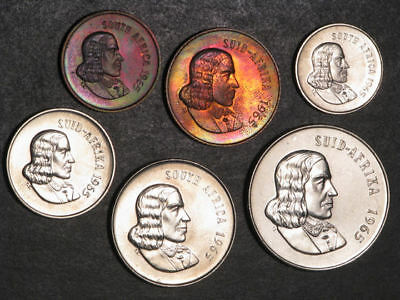 SOUTH AFRICA 1965 1-2-5-10-20-50 Cents Proof