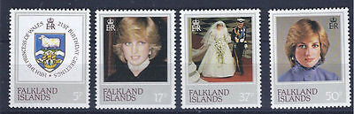 FALKLAND ISLANDS 1982 - mint stamps - postfrisch Nr. 346-349 ** Lady Di