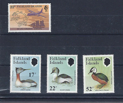 FALKLAND ISLANDS 1984 - mint stamps - postfrisch Nr. 411 + 412-414 ** Seetaucher