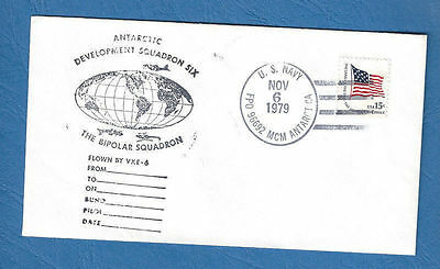 ANTARKTIS - USA - Brief - Letter 6.11.1979  Squadron Six Antarctic (3)