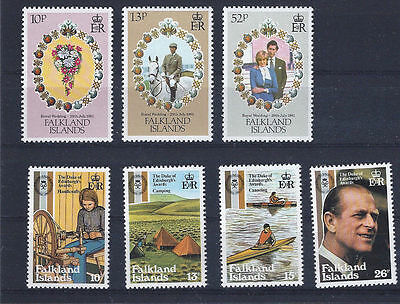 FALKLAND ISLANDS 1981 - mint stamps - postfrisch Nr. 326-328 + 329-332 ** Royals