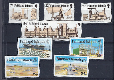 FALKLAND ISLANDS 1985 - mint stamps - postfrisch Nr. 419-422 +  423-426 **