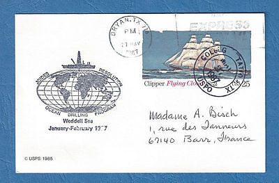 USA Weddell Sea Polar-Beleg Karte 27.5.1987  Nr. WZ USA - ANTARKTIS 82