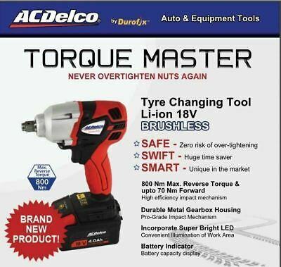 AcDelco Wheel Changing Impact Wrench Designed to never over tighten wheel nuts