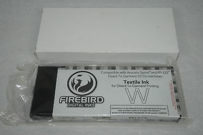 Firebird Digital Inks Anajet Sprint & Fp-125 Dtg White Textile Ink 220Ml  New