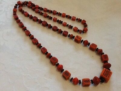 Antique Art Deco MAX NEIGER Egyptian Revival Glass Bead Necklace