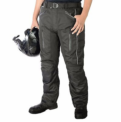 Mens Motorbike Motorcycle CE Armoured Waterproof Cordura Textile Pants Trousers