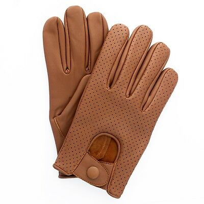Mens Leather soft Driving Gloves Retro style Top quality Comfort Chauffeur Swift
