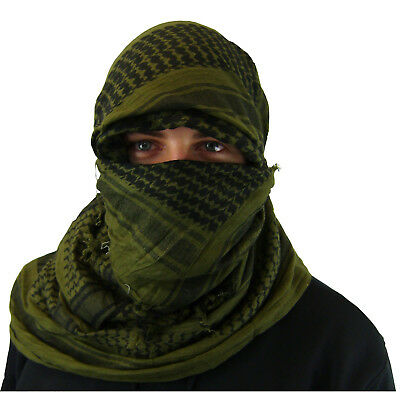 Shemagh Military, Arab, Army, SAS, Keffiyeh Desert Scarf 100% Woven Cotton Wrap