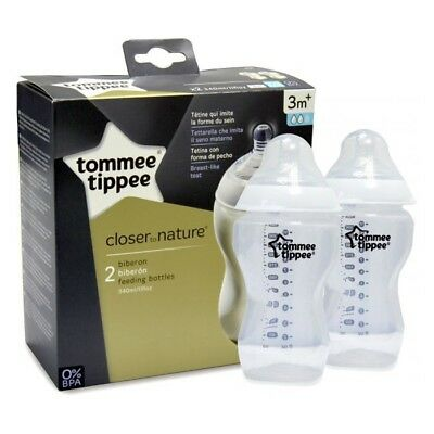 tommee tippee CLOSE TO NATURAL twin BOTTLE 340ml clear