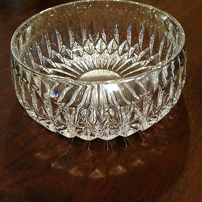 """Vintage Gorham Althea pattern 7.5"""" Crystal Cut Glass Bowl Classically Styled"""