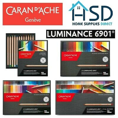Caran d'Ache Luminance 6901 Professional Colour Pencil Sets of 12 / 20 / 40 / 76