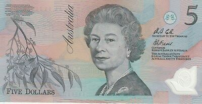 1995 UNCIRCULATED $5 note. PERFECT AA95702232