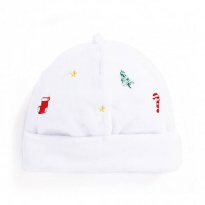 NEW JoJo Maman Bebe Christmas Embroidered Baby Hat (Size: 3-6 Months)