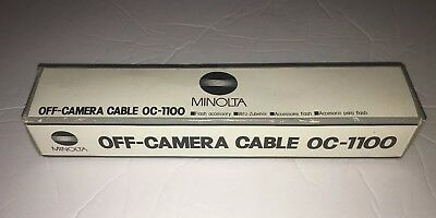New Minolta Off-Camera Cable 0c-1100 for Minolta type flashes in