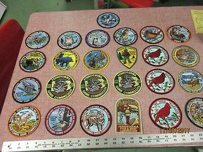 Lot of 25 Pa Pennsylvania Fish and Game Commission Patches