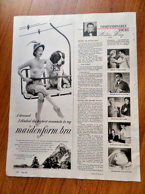 1955 Maidenform Bra Ad I Dreamed I Climbed the Highest Mountain in my MF