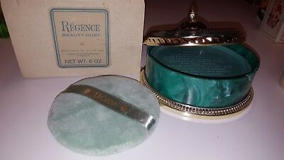 Avon  Regence Beauty Dust Powder New Refill with Container and puff