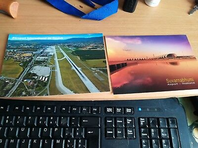 Airports  2 postcards