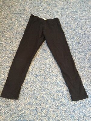M&S Indigo black leggings trousers girls age 6-7 years-I combine postage
