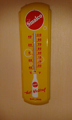 sinalco Thermometer /Blech / 43 x 12 cm/ gelb