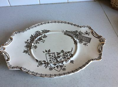 1875-1903 Antique John Tams Crown Pottery Large Plate