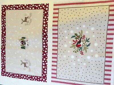 Lewis And Irene cotton fabric Christmas Place Mat Panel FQ quilting Table
