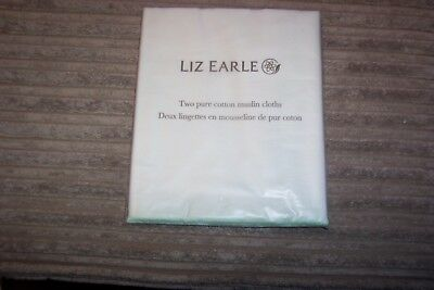 NEW Sealed Pack of 2 large muslin cloths Liz Earle