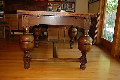 Funky & unique old world Belgian Expandable Dining table