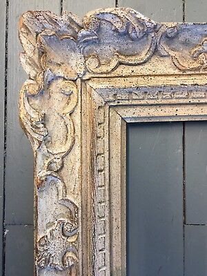 Large Antique Wood frame Carved french Gold / Grey24 X29