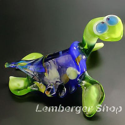 Glass figurine turtle made of colored glass. Lenght 8 cm / 3.2 inch!