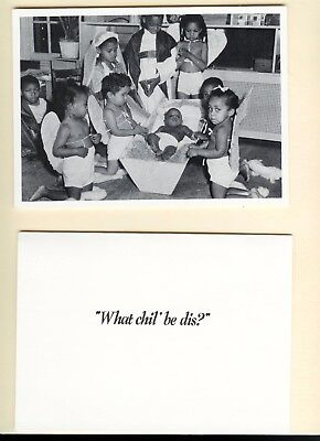 """Black Americana """"What Chil' be dis? Christmas Cards 1980's Vintage Package of 12"""