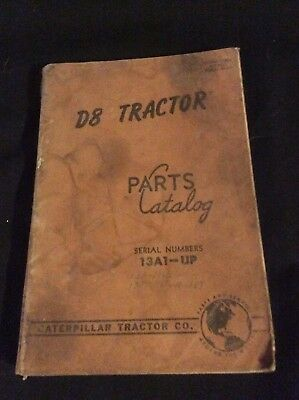Caterpillar Tractor Co D8 Parts Catalog