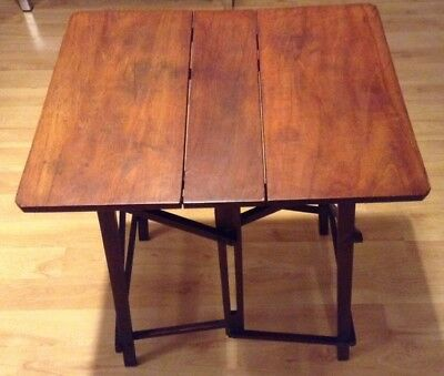 Antique Hatherley Folding Campaign Wooden Table