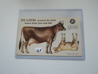Happy Holidays! 1950 DeLaval Ideal Brown Swiss Dairy Cow Trade Card