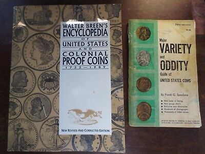 VINTAGE RARE ~ US COIN BOOKS ~ BREEN Colonial Proofs & VARIETY & ODDITY Guides