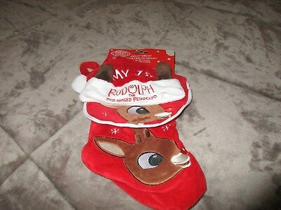 Rudolph the Red Nosed Reindeer CLARICE Red Baby's First Christmas Set Bib Hat