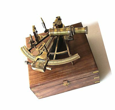 Heavy German Working Model Sextant Marine Sea Collectible Nautical Telescope