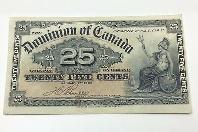 1900 Dominion of Canada Boville Twenty Five 25 Cents Shinplaster Bank Note C020