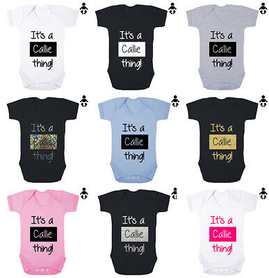 IT'S A .... THING, personalised, Baby name, gift, Baby grow BABY VEST Bodysuit