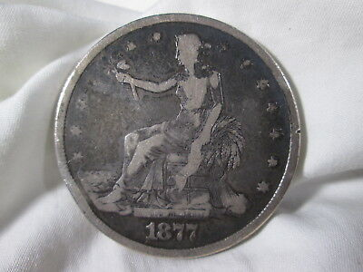 1877 silver TRADE DOLLAR us coin money bullion