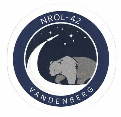 NROL-42 MISSION STICKER ~ American Recon Spy Satellite Vandenberg NSA  NEW