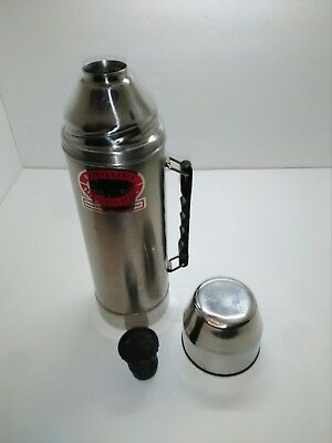 Vintage Stainless Steel Uno-Vac Thermos Bottle 2-Qt. 64oz Jumbo Unbreakable