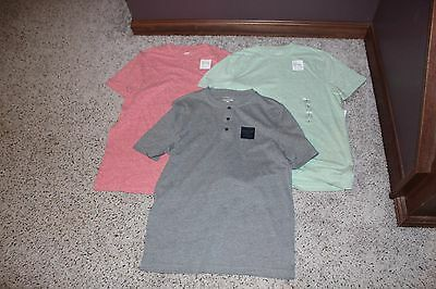 Lot: 5 Mens Nwt Sm T-Shirts/henley: Heather Gray/green/red/blue- Marc Anthony/go