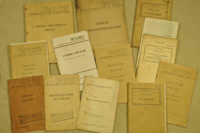 Military Instruction manuals for Photographic Equipment (13 total)
