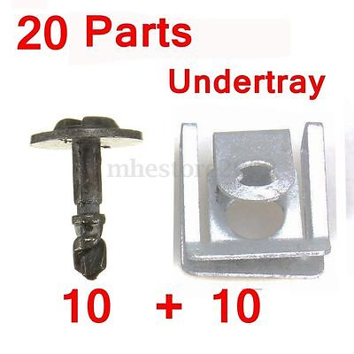 10 Pairs Engine Undertray Clips Splashguard Clamps Shield Cover For BMW E38 E39